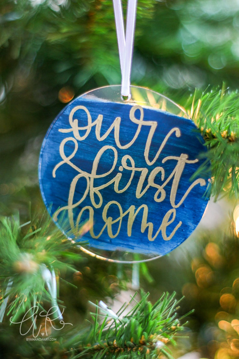 Hand Lettered Acrylic Ornament Clear Custom Acrylic Ornament Etsy Hand Lettering Hand Lettered Christmas Hand Lettering Printables