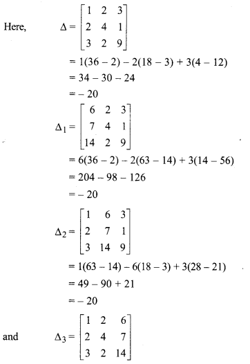 Rbse Solutions For Class 12 Maths Chapter 5 Inverse Of A Matrix And Linear Equations Miscellaneous Exercise Class 12 Maths Maths Solutions Studying Math