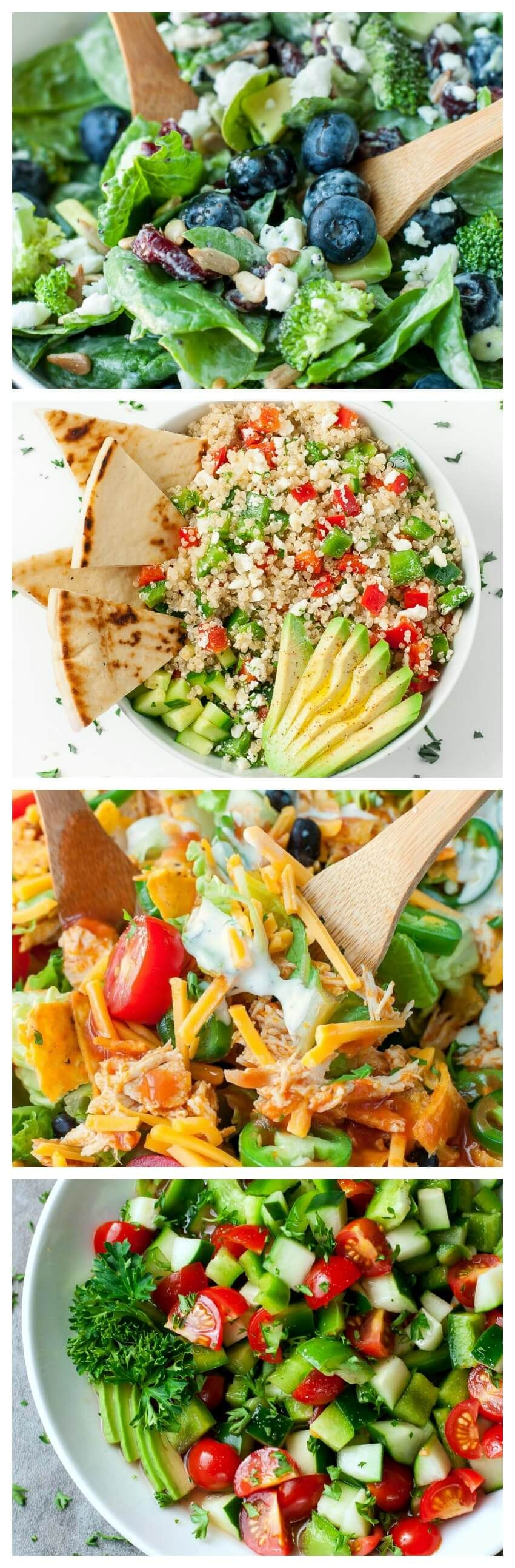 20 Easy Healthy Salad Recipes: with vegetarian, vegan, paleo, low-carb, and gluten-free options to choose from, there's something for everyone on this list!