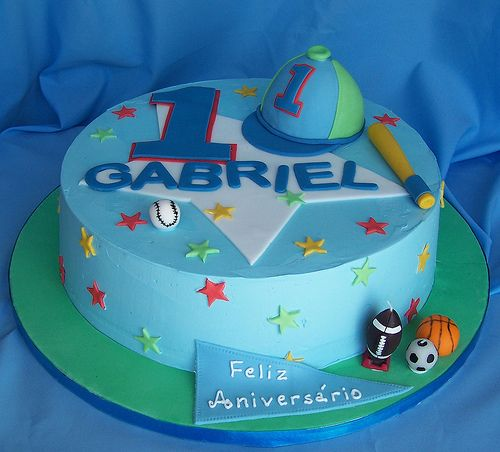 First birthday cake for a boy. Cake designs, Birthday ...