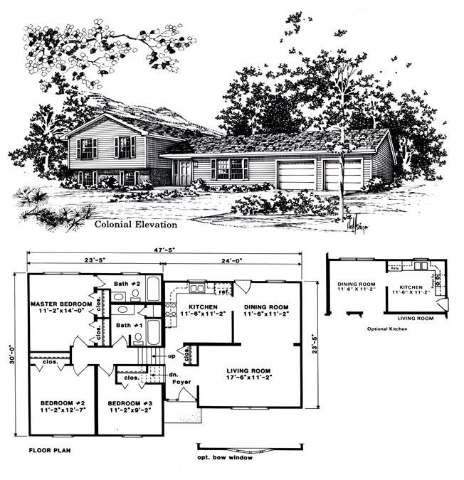 Beautiful Tri Level House Plans #8 1970s Tri Level Home Plans ...