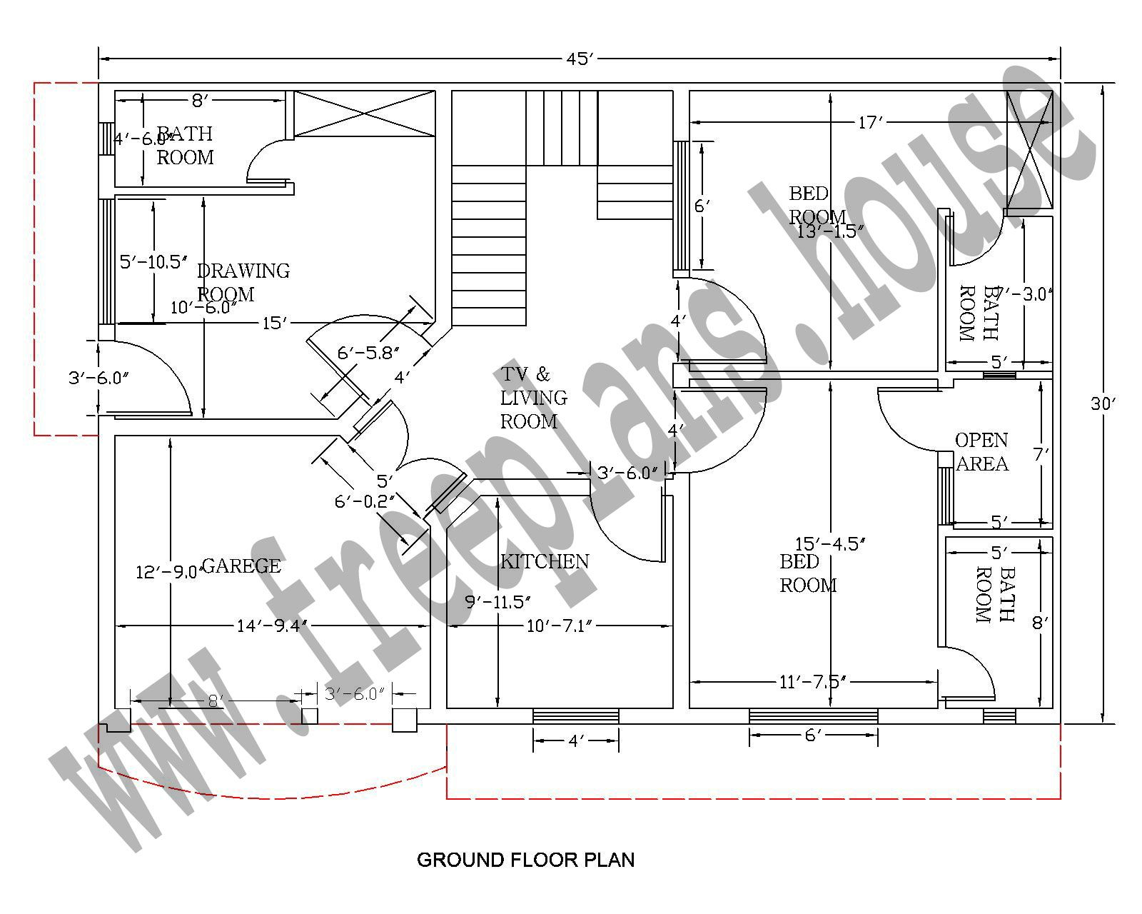 30 45 Feet 125 Square Meter House Plan Plans