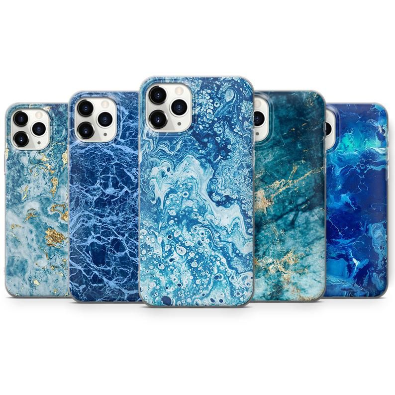Marble Pattern Phone Cases Blue Cover Fits Iphone 7 8 Xr Etsy In 2021 Pattern Phone Case Marble Pattern Phone Case Design