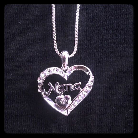 Silver Heart Nana Necklace Precious gift perfect for grandma or mom..   very shiny and looks pricey!  I bought at Macy's in clearance for $20 (chain hangs at 10 inches) Jewelry Necklaces