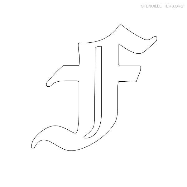 Old english f stencil letter old english f possible guitar old english f stencil letter old english f possible guitar logo inlay spiritdancerdesigns Image collections