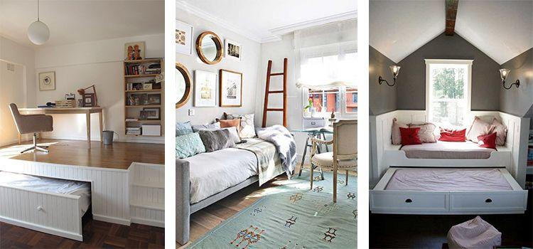 Dormitorio de invitados reformas en granada a la cama - Habitacion de invitados ...