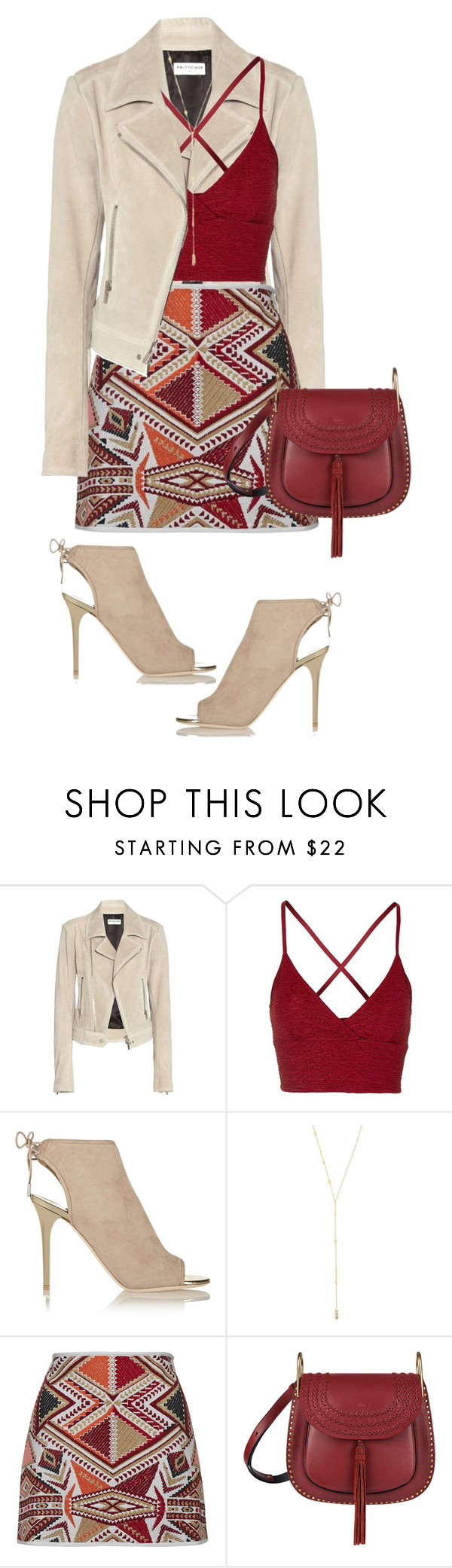 """""""Layers"""" by lisamichele-cdxci ❤ liked on Polyvore featuring Balenciaga, Topshop, Jimmy Choo, Gorjana and Chloé"""