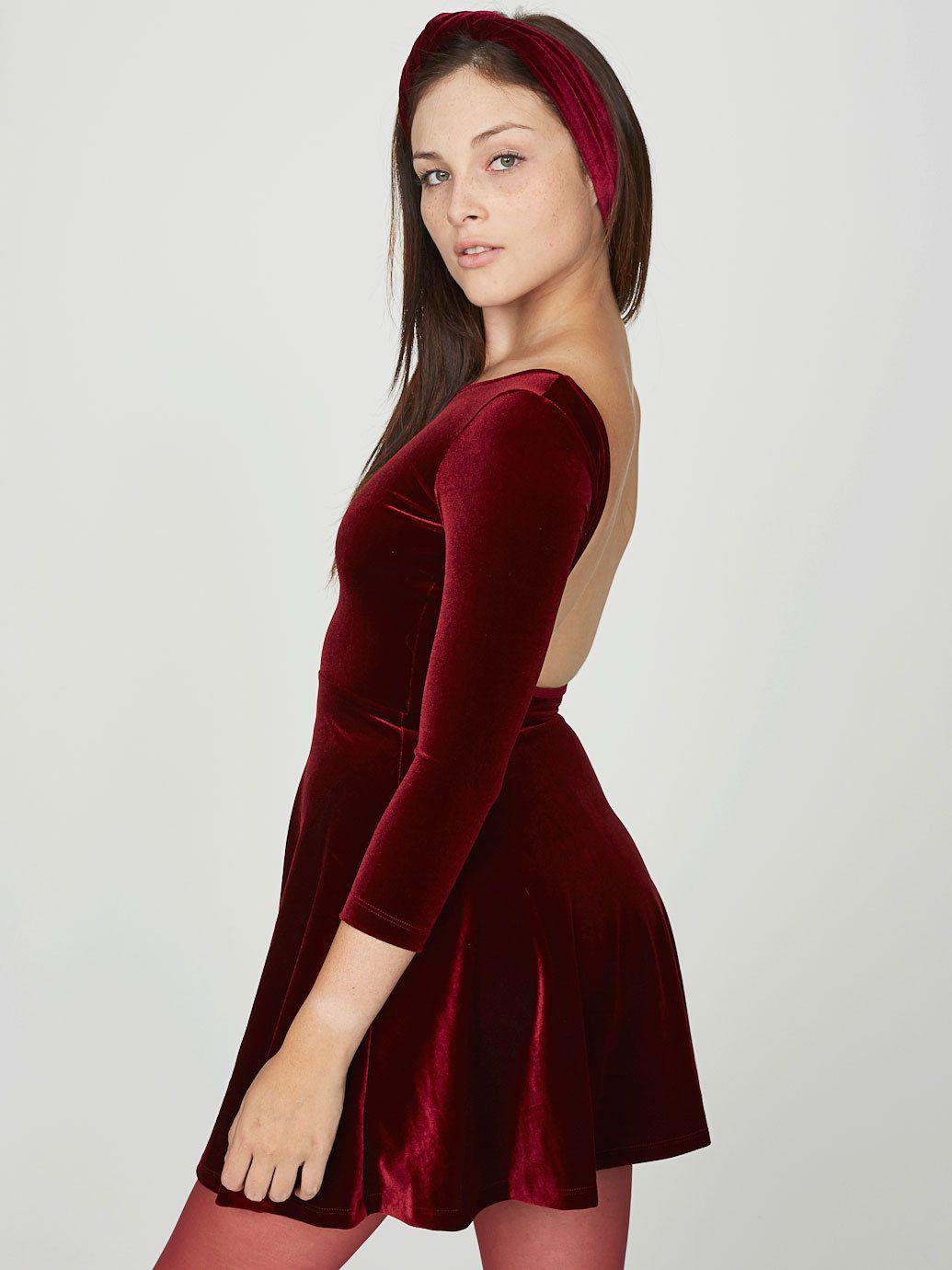 77a56bb6a5 (99+) Tumblr Velvet Skater Dress, American Apparel Dress, Romper With Skirt