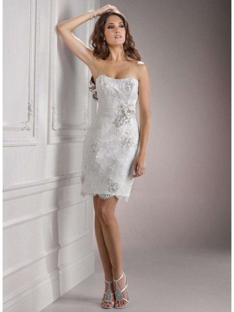 Fashionable Short White Wedding Dresses Casual Short Wedding - Short Casual Wedding Dress