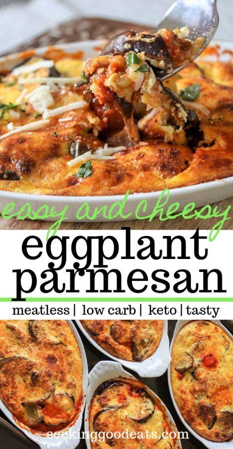 Low Carb Eggplant Parmesan (Eggplant Gratin)-#Carb
