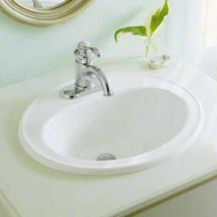 Pennington Ceramic Oval Drop In Bathroom Sink With Overflow K 250 Peľňa