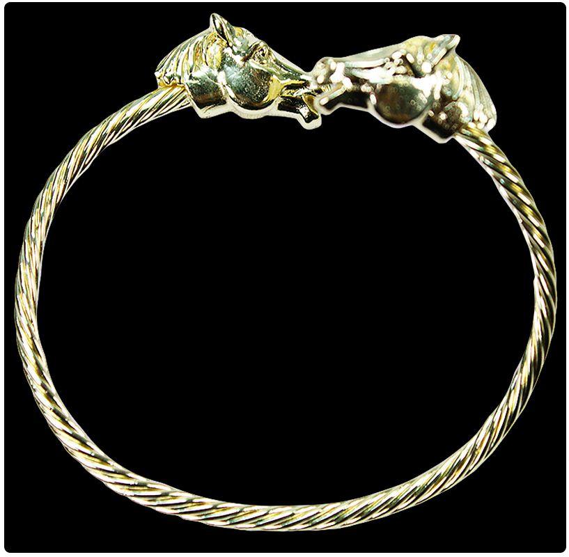 962460c10bc18 Pulseira Feminina Golden Horse Pulseira feminina dourada