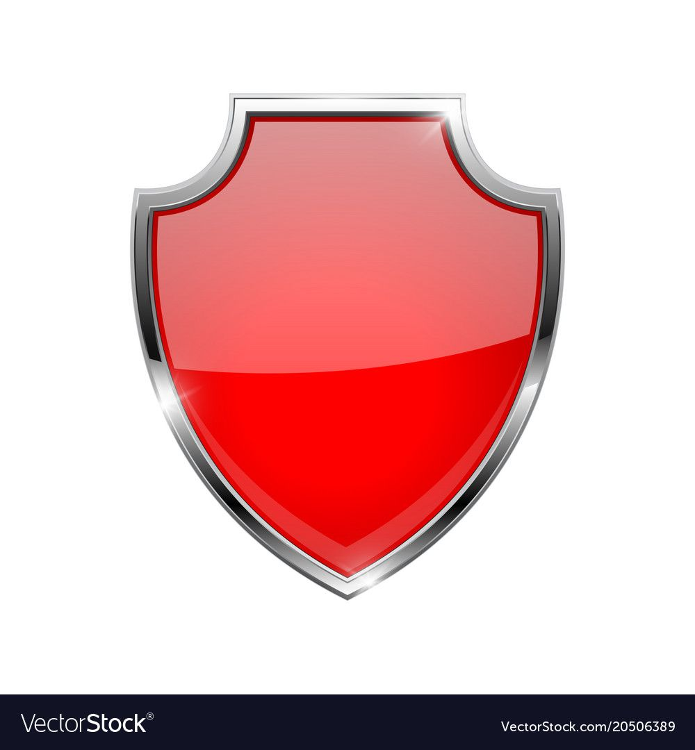 Metal 3d Red Shield Vector Illustration Isolated On White Background Download A Free Preview Or High Quality Adobe Illustra Red Shield Shield Vector Art Logo
