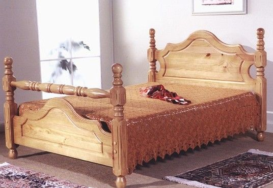 Show More Information On Cotswold 4 6 Double Pine Bed Bed Frames For Sale Pine Bed Frame Wooden Bed