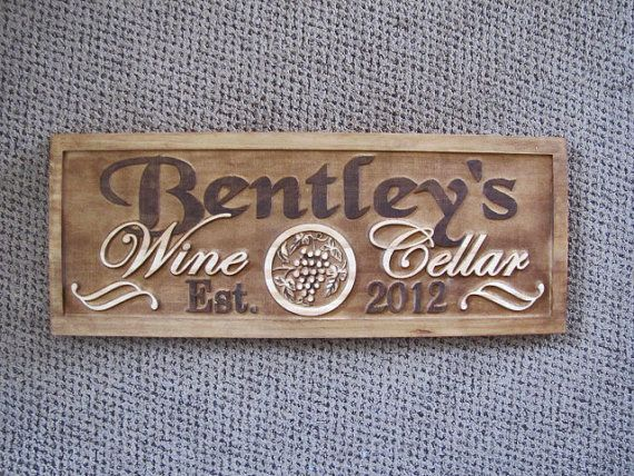 Wine Sign Personalized Family Name Signs Wine Cellar Room & Wine Sign Personalized Family Name Signs Wine Cellar Room | Signs ...