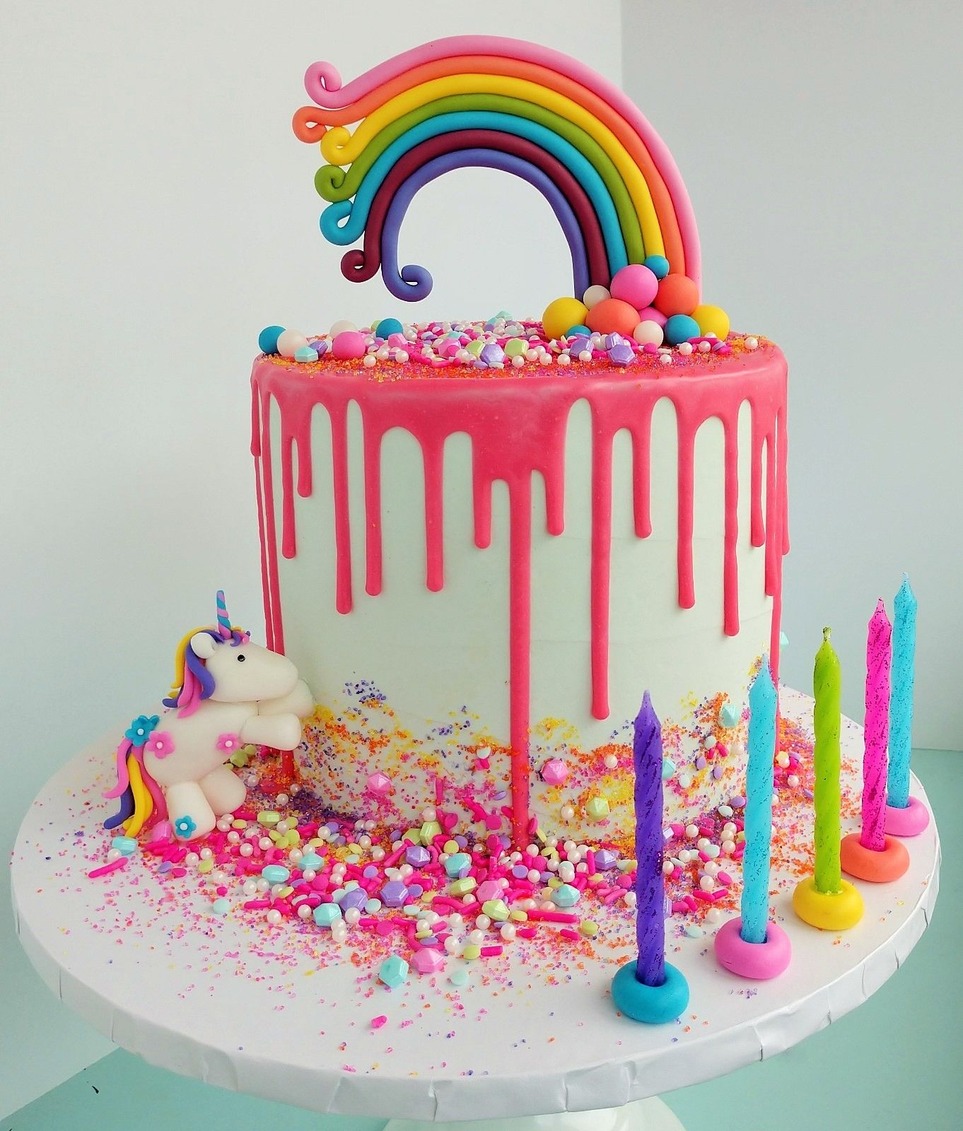 Swell Rainbows And Unicorns Cake Rainbow Birthday Cake Unicorn Funny Birthday Cards Online Elaedamsfinfo
