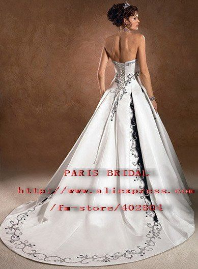Black And White Wedding Dresses With Lace Up Back Wedding Dress With Lace Up Corset Strapless St Black Wedding Dresses Wedding Dresses Corset Wedding Dresses