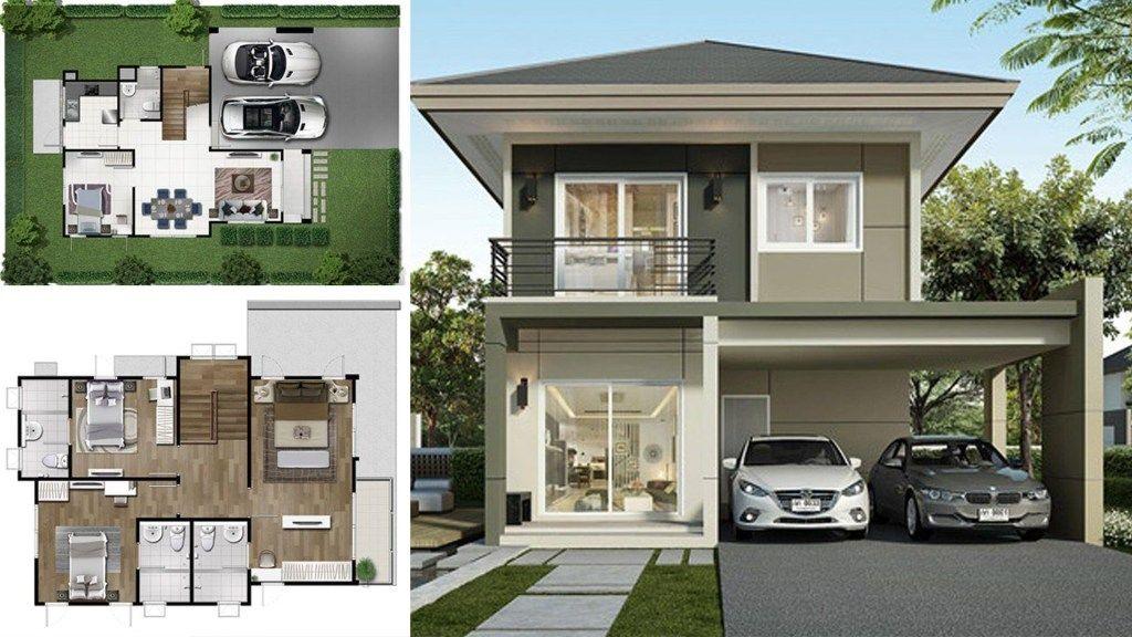 2 Storey Single Detached House 164 Sq M Huis