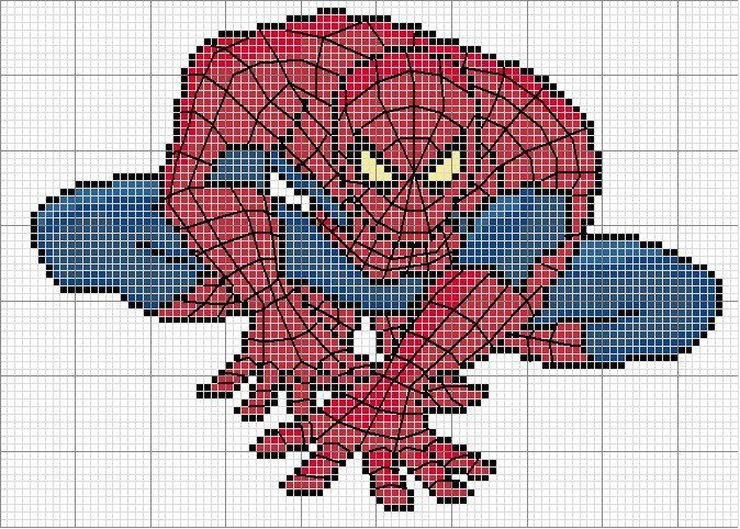 modele tricot gratuit spiderman
