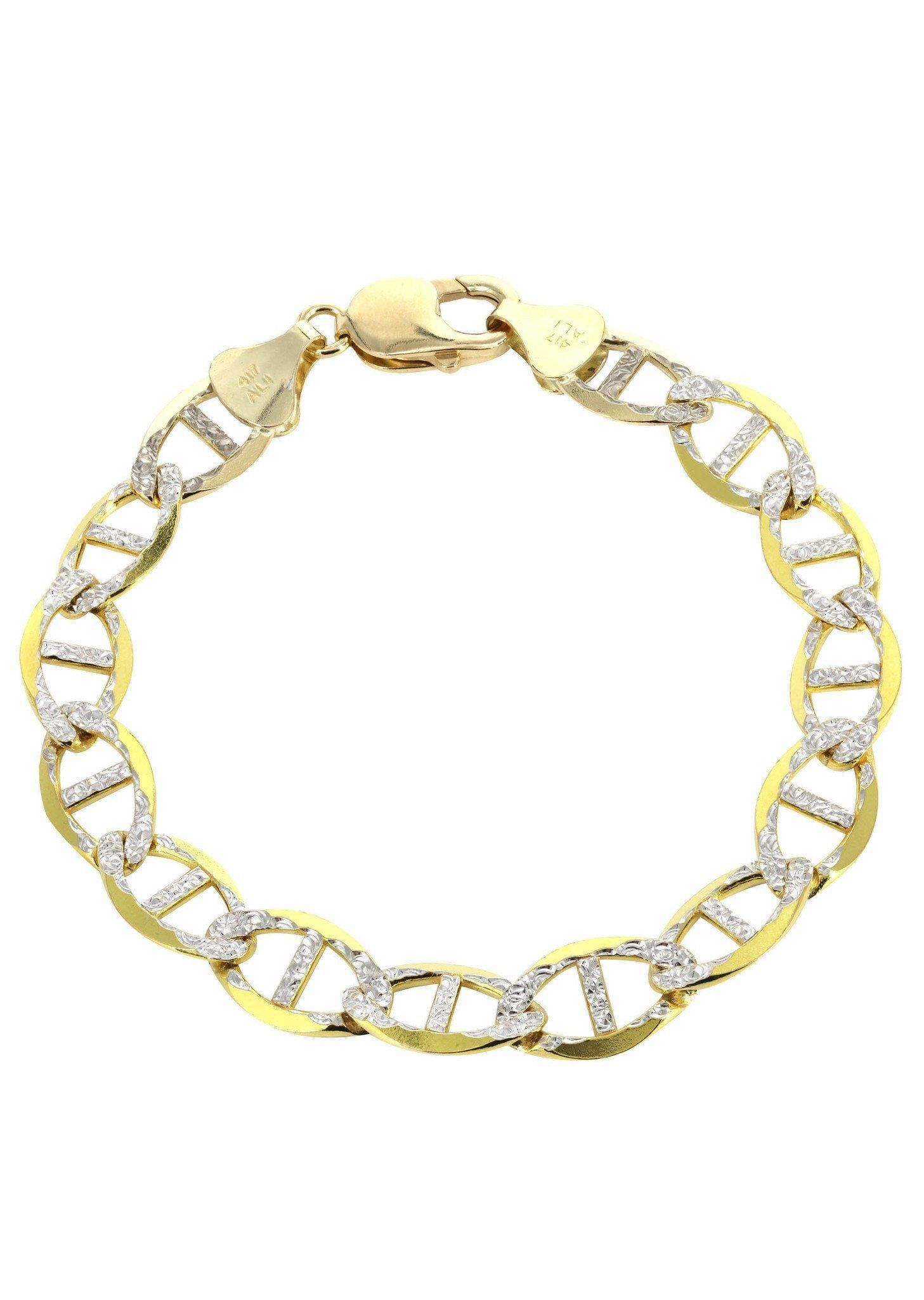 ancgweb solid link grams diamond of white the best org yellow gold bracelet cut