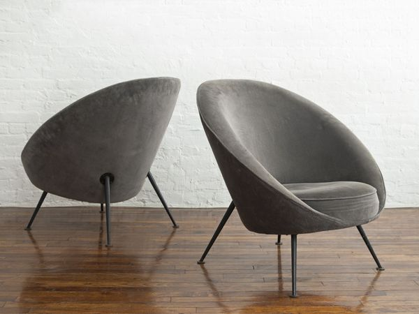 nicholas kilner ico luisa parisi rare pair of egg chairs model