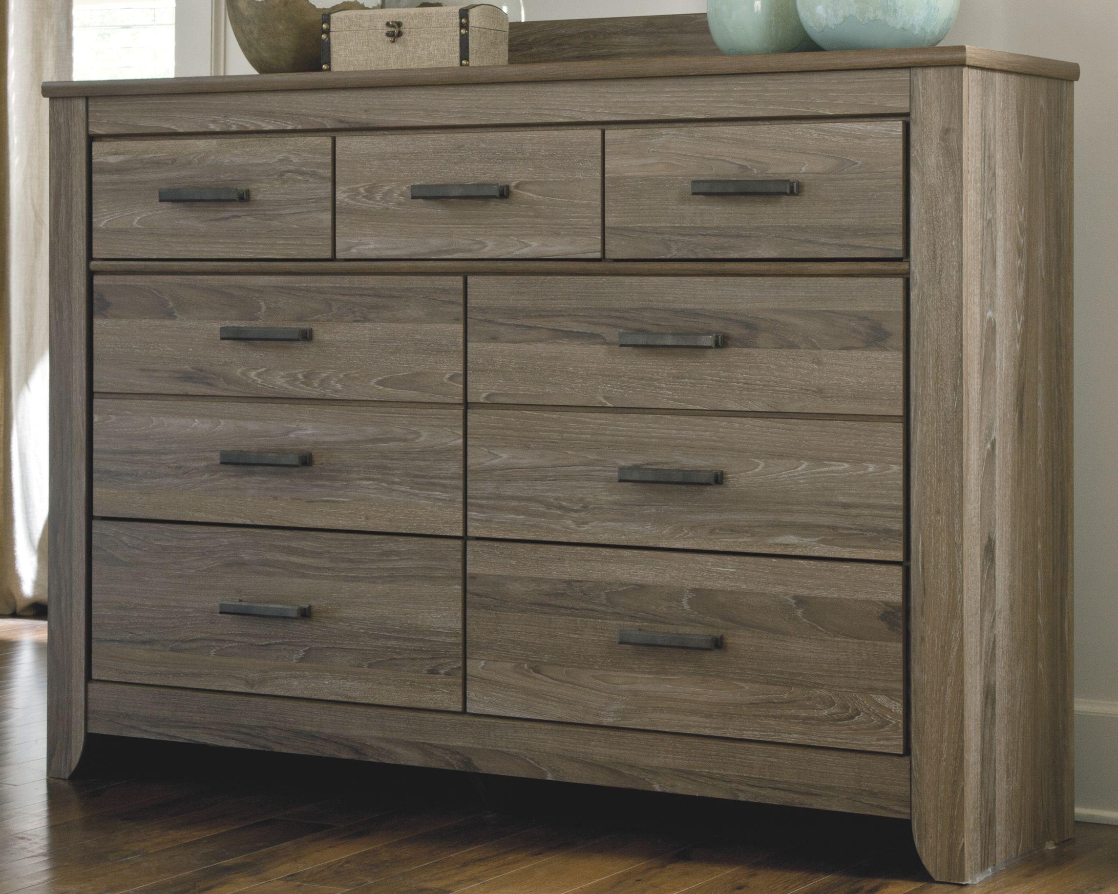 Zelen Dresser, Warm Gray Bedroom dressers, 7 drawer