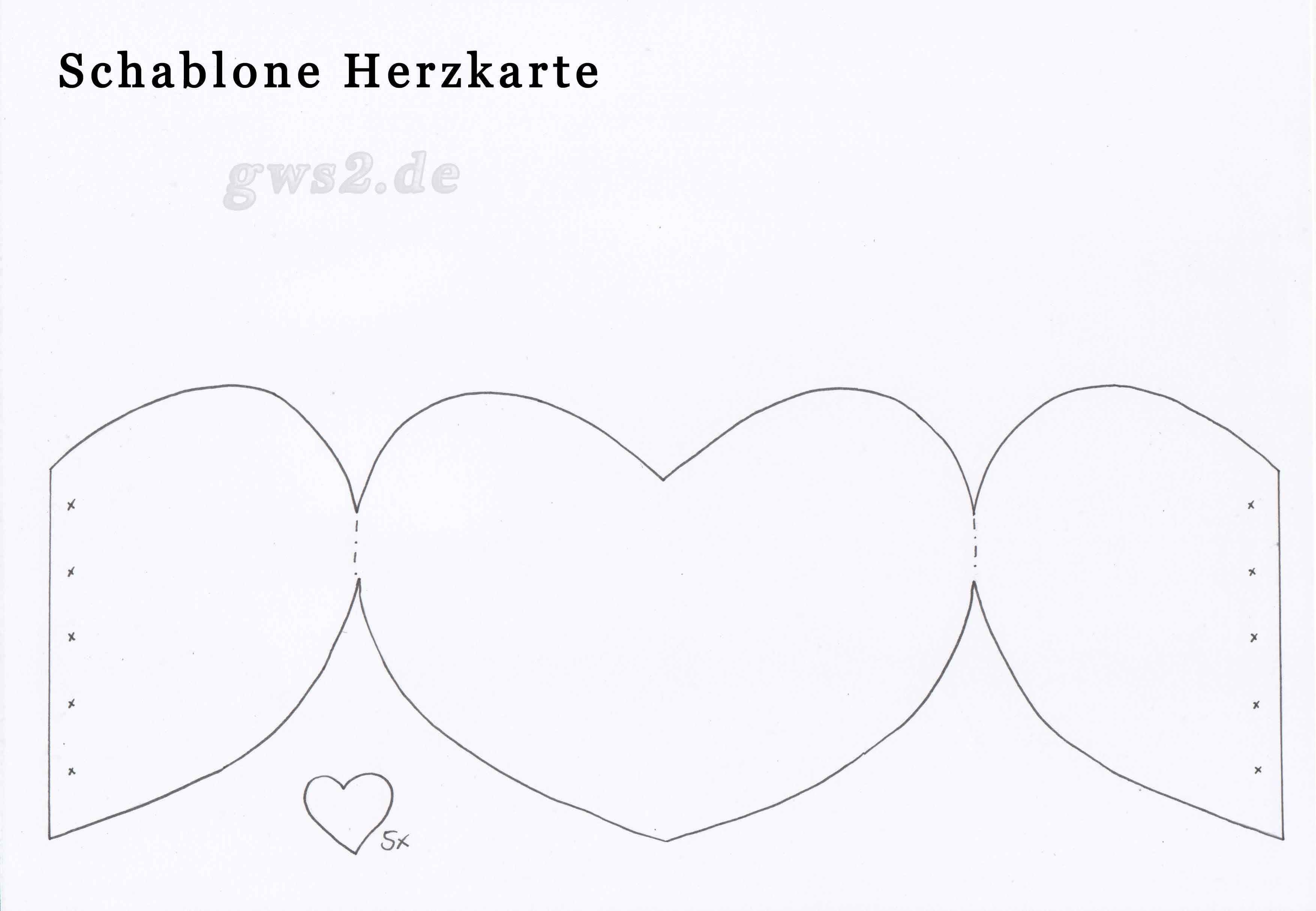 Bastelvorlage Muttertagskarte Herz Muttertagskarte Basteln Herz Karte Karten Basteln Vorlagen