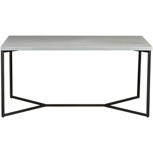 Medium image of option for new kitchen table  aluminum wrapped bow dining table in furniture   cb2