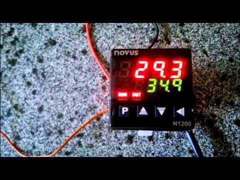 Entendendo o visor do controlador novus