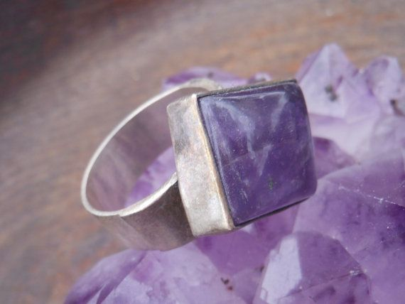 Sterling Silver Amethyst Ring by CrystalEssence90 on Etsy