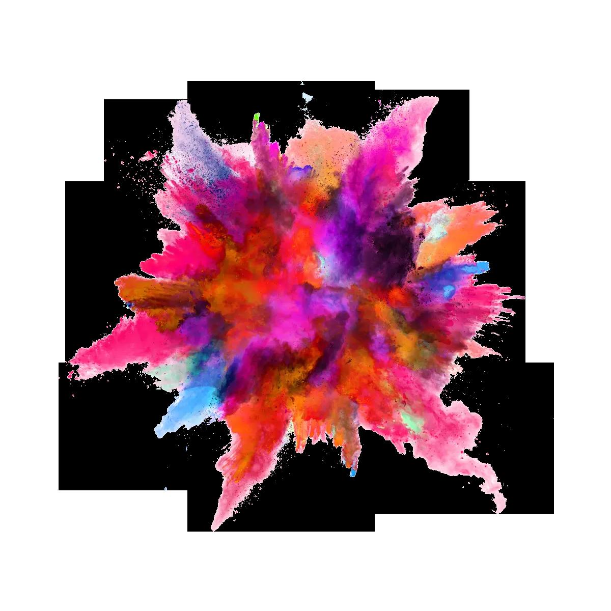 Powder Color Warna Seni Cat Air Foto Abstrak