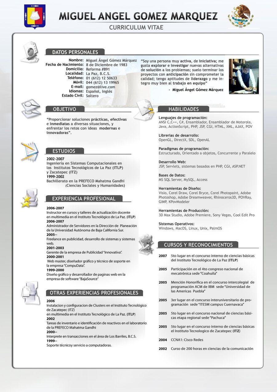 Modelo De Curriculum 2012 Modelos See It   fd   Pinterest   Modelo