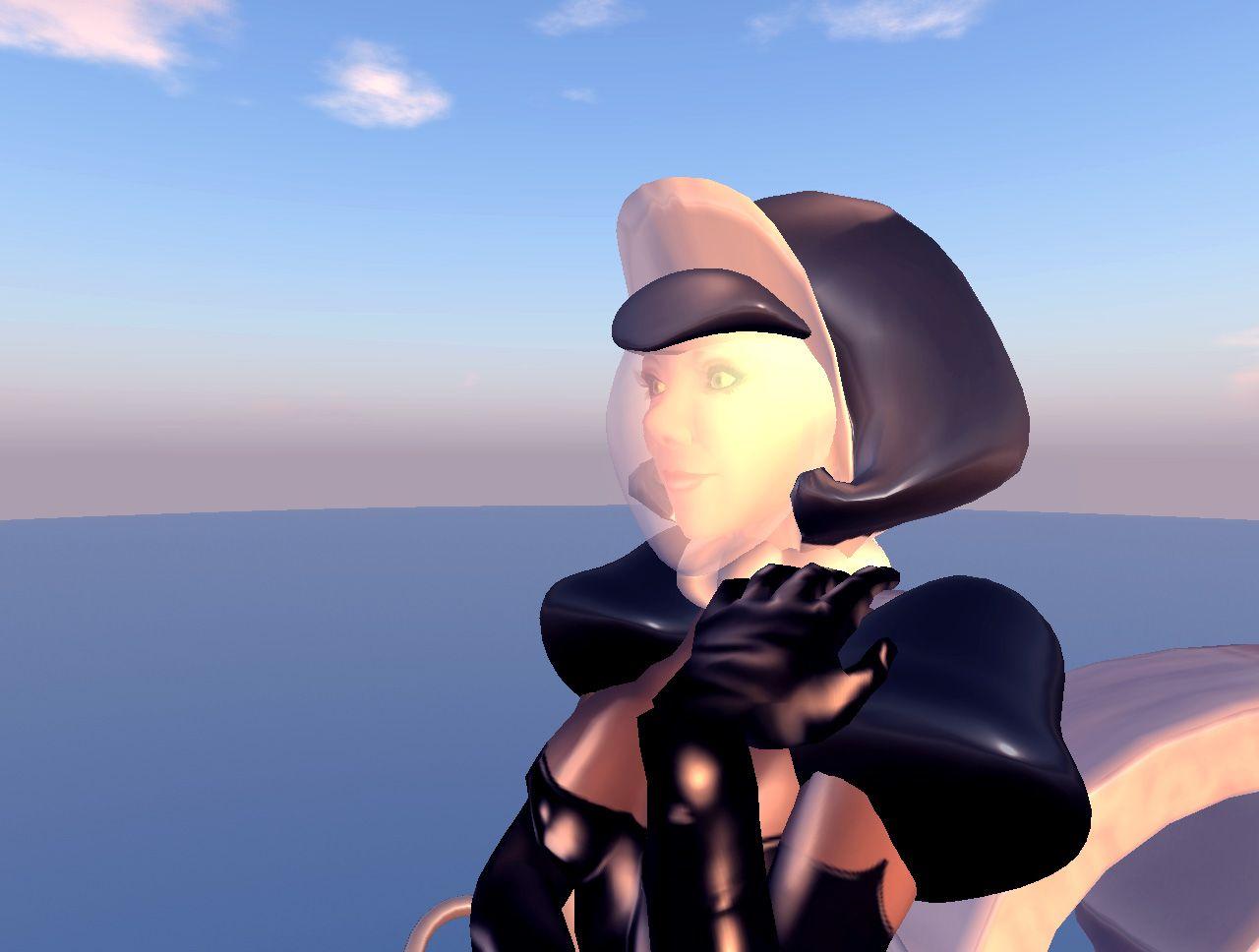 The Skirt Saucer comes a bonus Space Maid Helmet! #secondlife