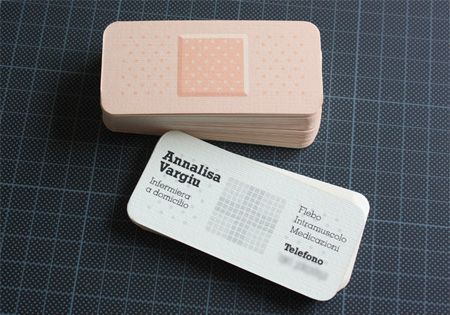 Business card for a professional nursing association it actually clever business card idea for those in the health care industry doctors nurses etc colourmoves