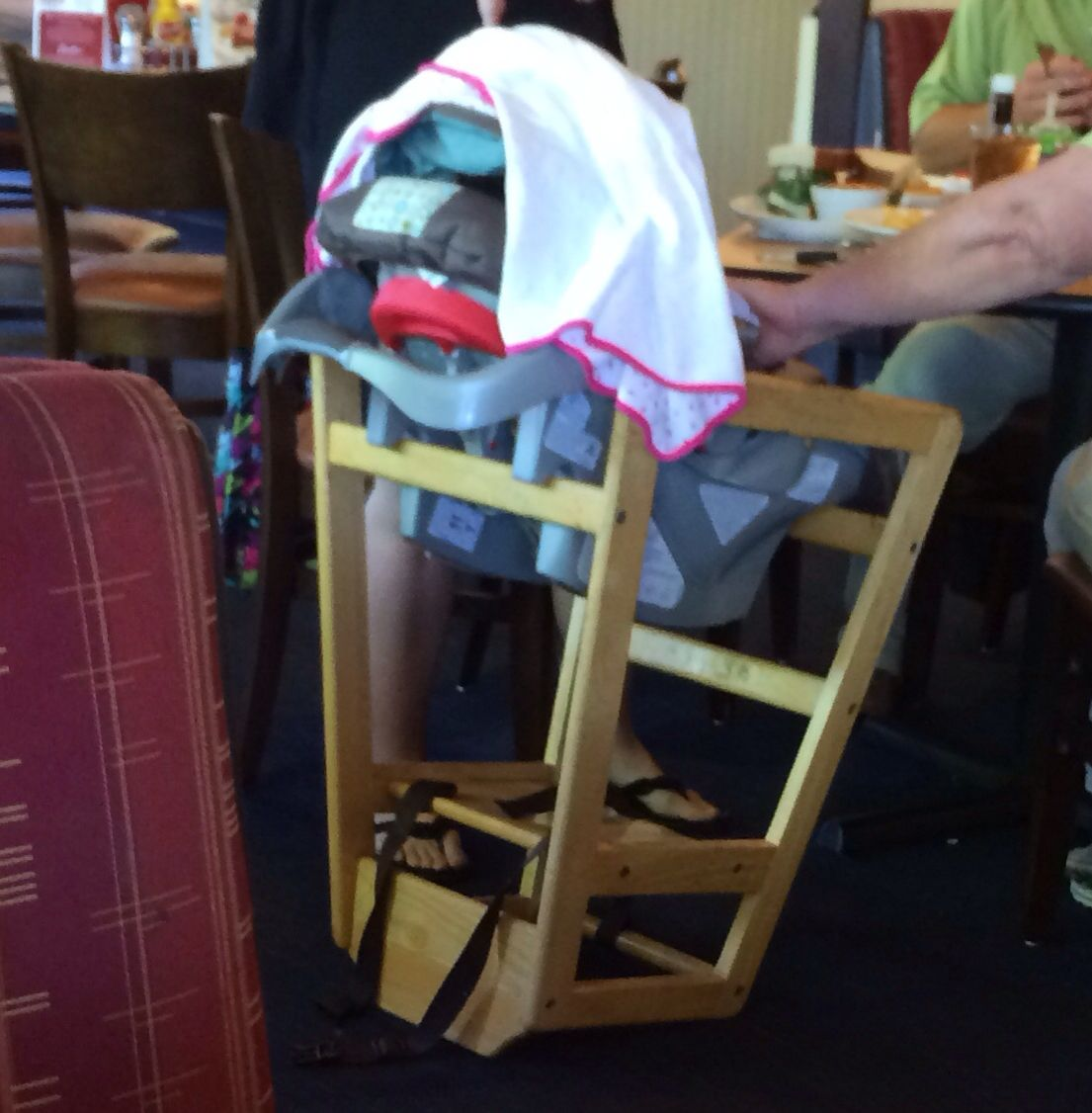 Turn A Restaurant High Chair Upside Down And Place Car