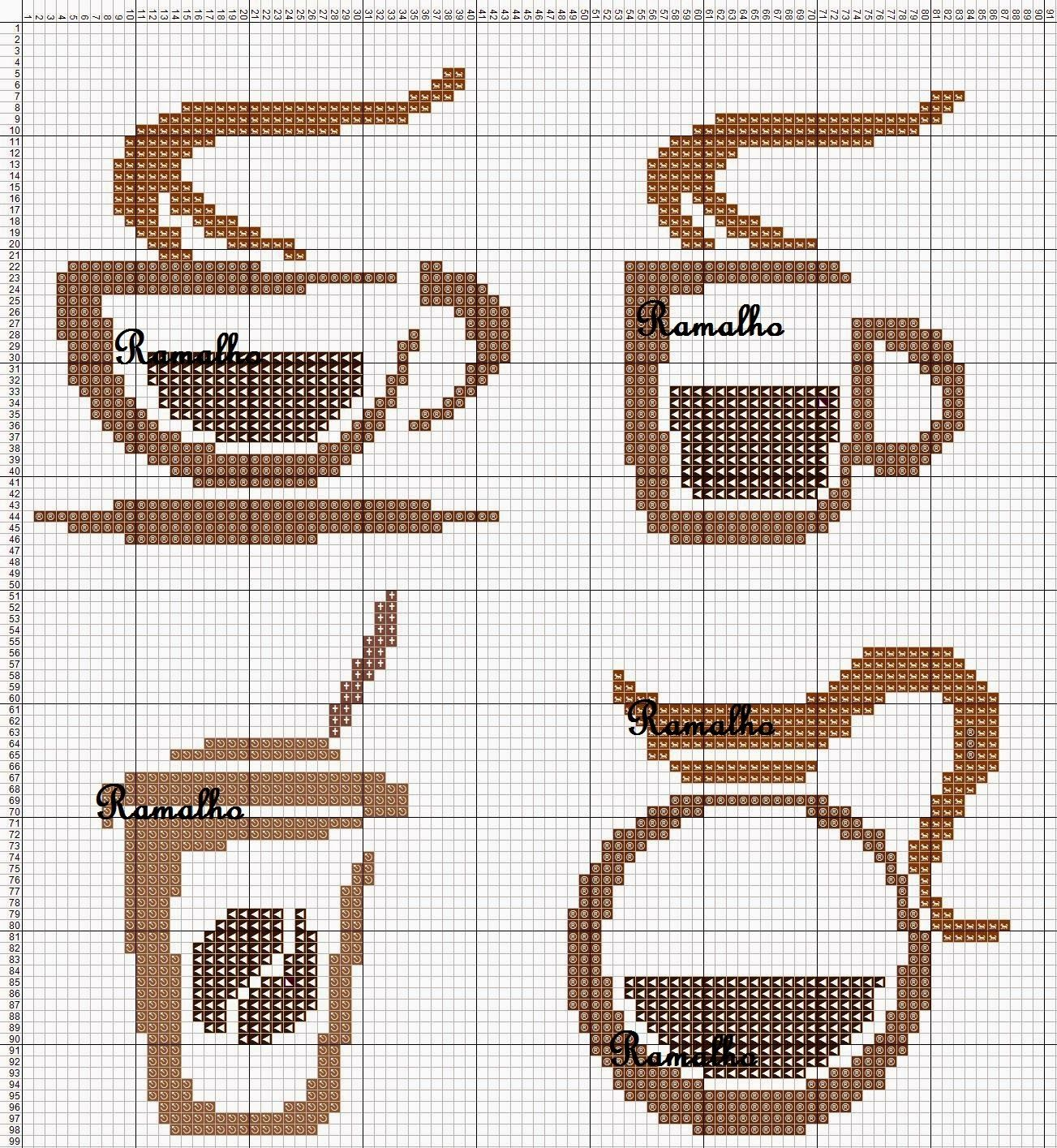 Coffee set perler bead pattern--could convert to cross stitch ...