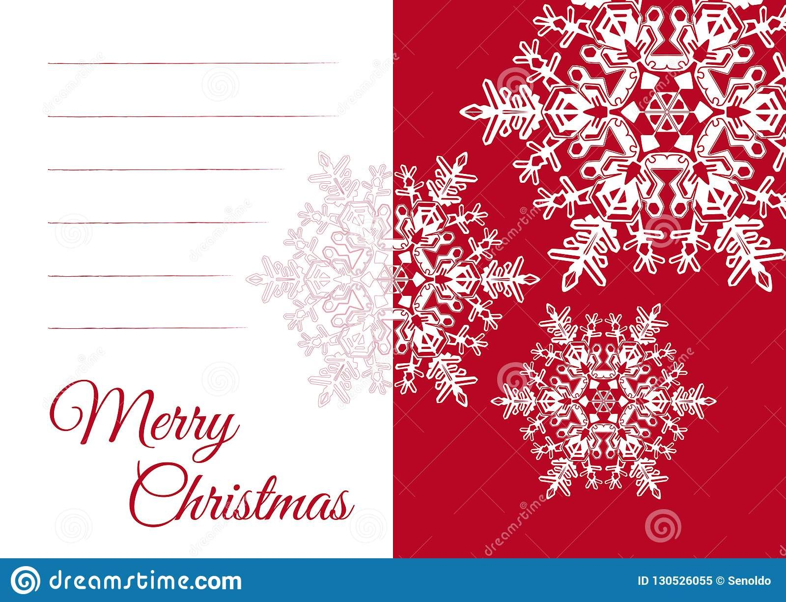 Christmas Greeting Card Template With Blank Text Field Stock Inside Blank Christmas Card Templates Free Best Template Ideas