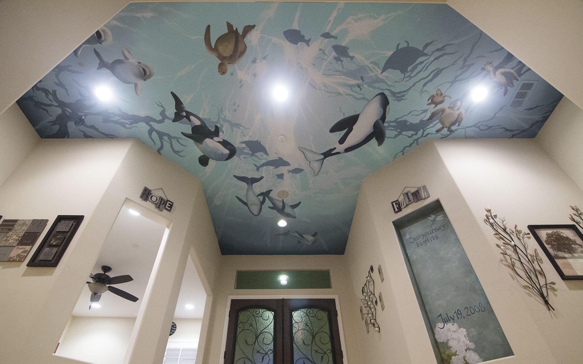 Underwater Ceiling In Foyer Underwater Animals Whales