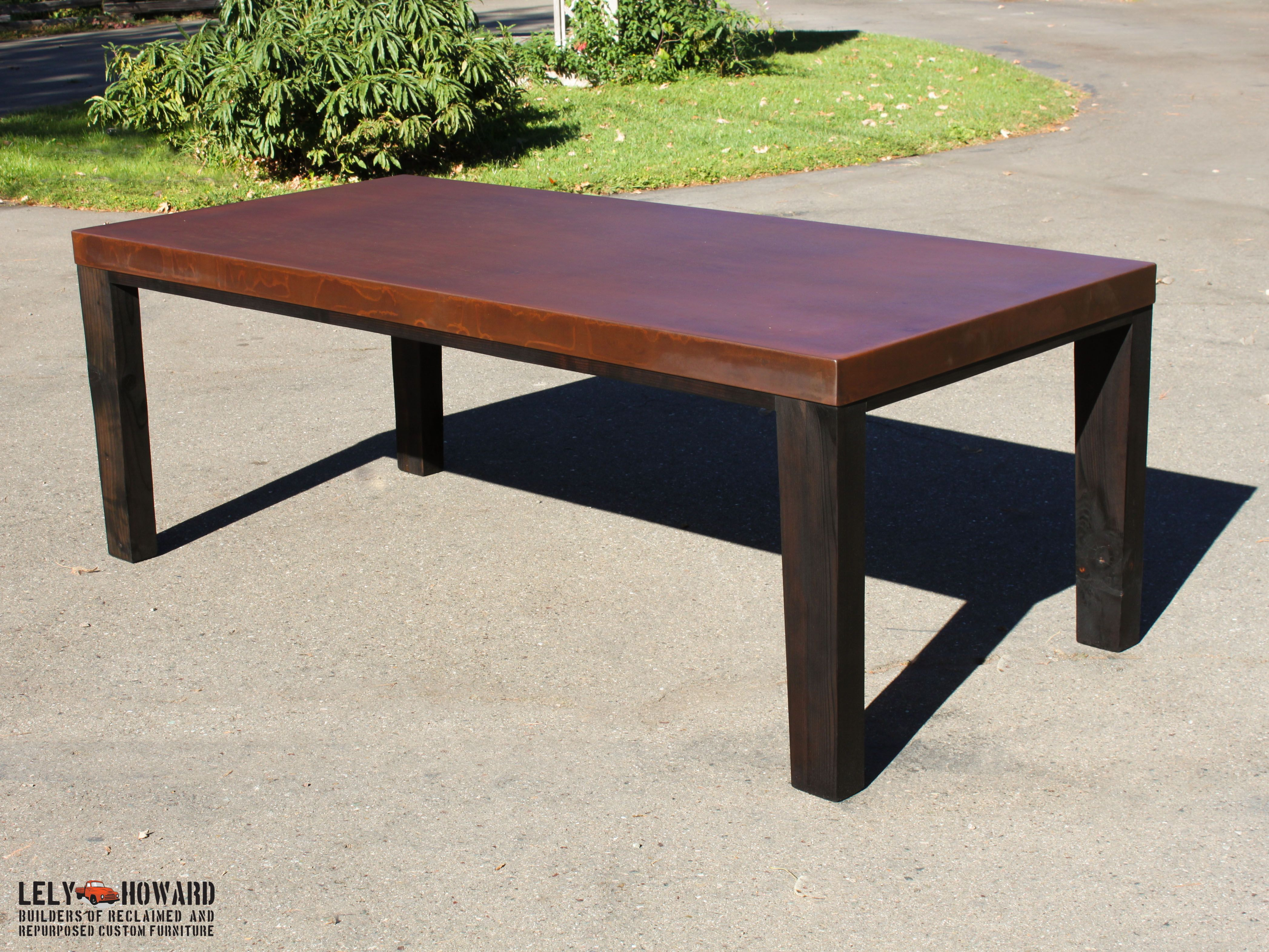This Beautiful Outdoor Dining Table Was Built Using Corten Sheet