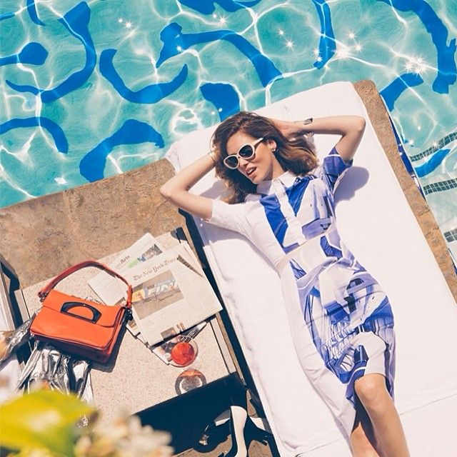 Poolside prints with Chiara Ferragi of #theblondesalad