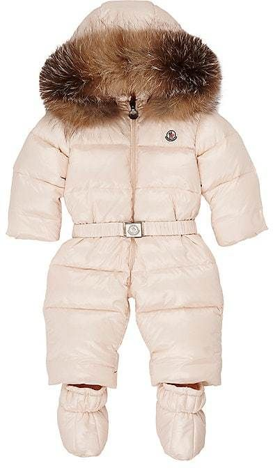 79fc80dc657b Moncler s pale pink down-filled channel-quilted tech-fabric snowsuit ...
