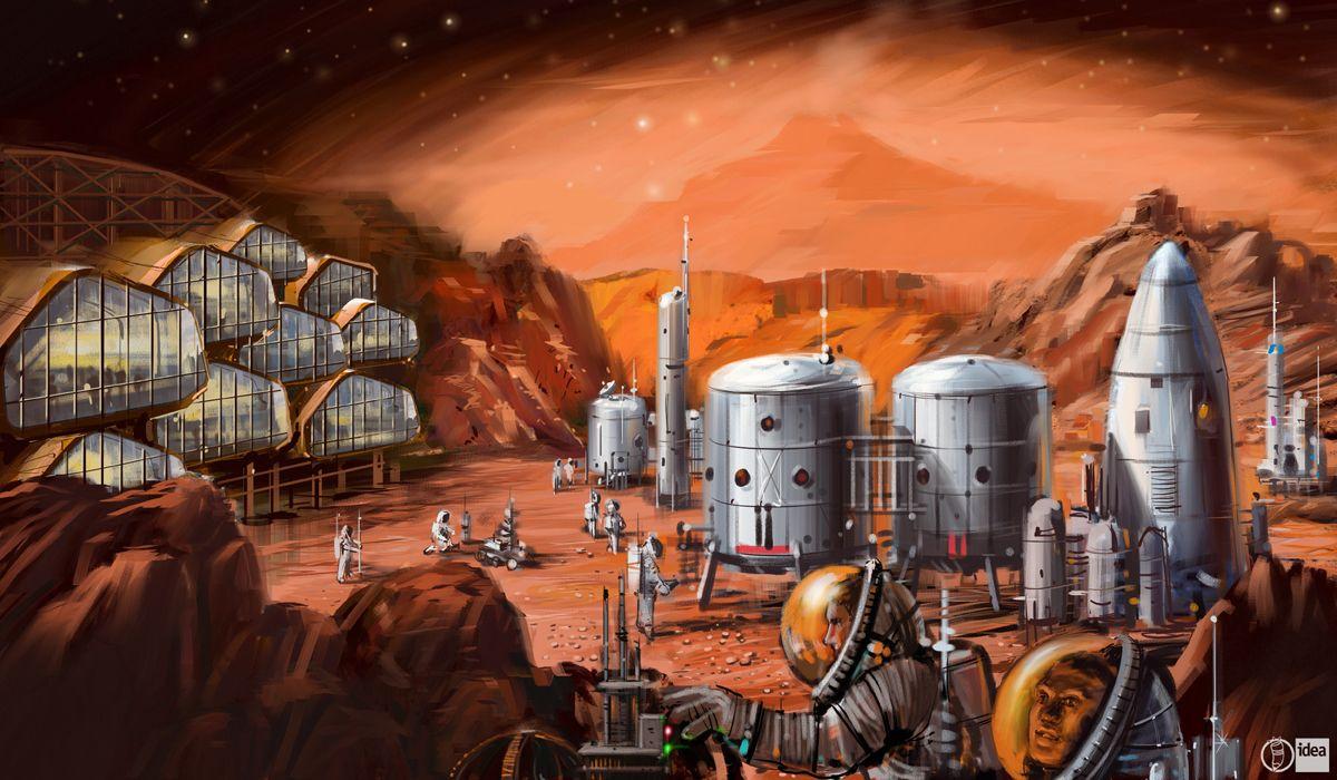 Interspace Mars colony | SPACE | Mars colony, Mars space, Mars