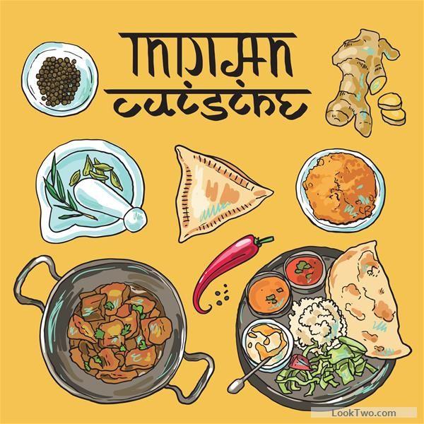 Hand drawn indian food elements vector 01 fr food icon hand drawn indian food elements vector 01 free vector download forumfinder Gallery