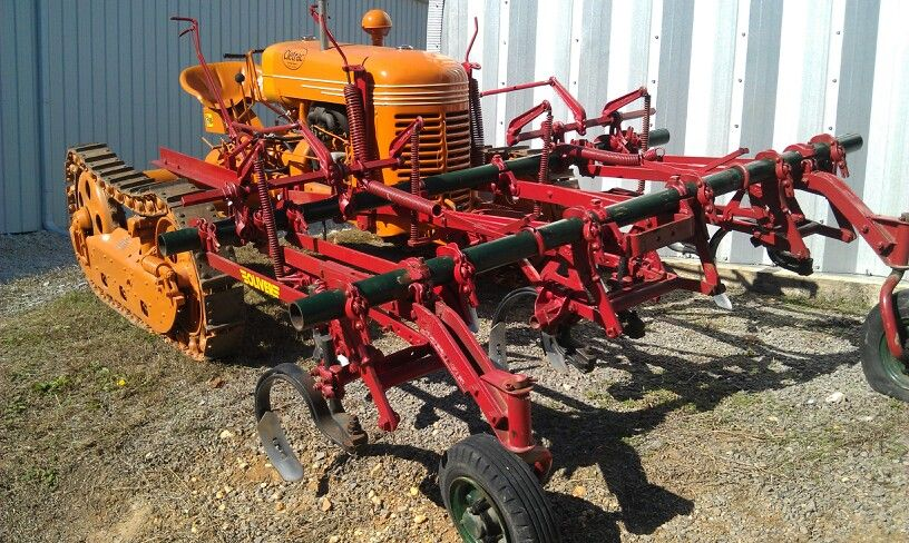 Cletrac crawler with cultivators