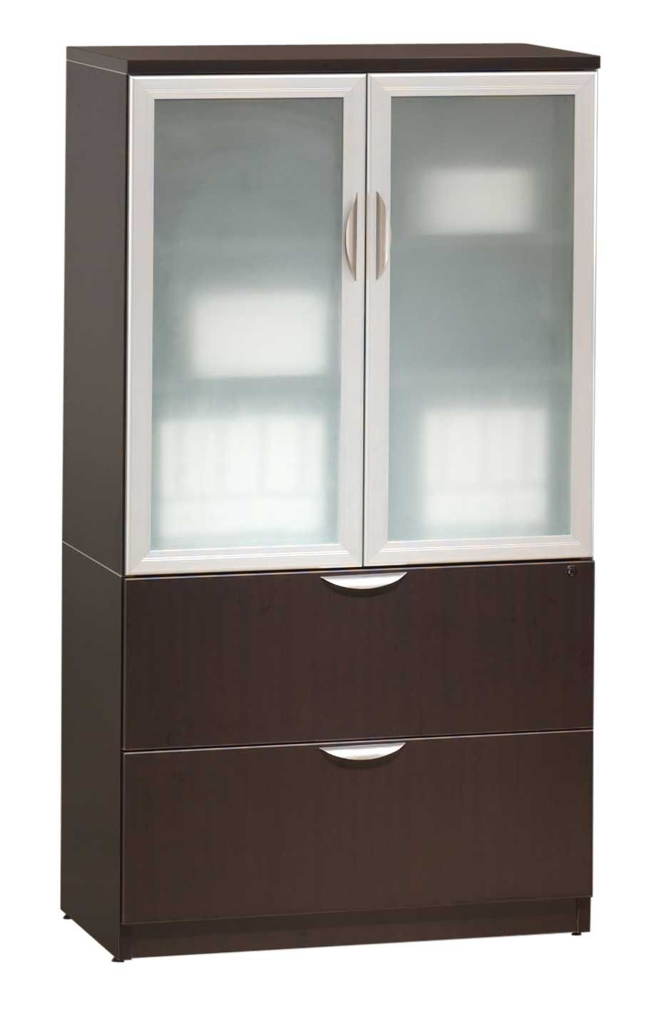 Glass Door Storage Cabinetlateral File Combo Pl11215252gldrsi
