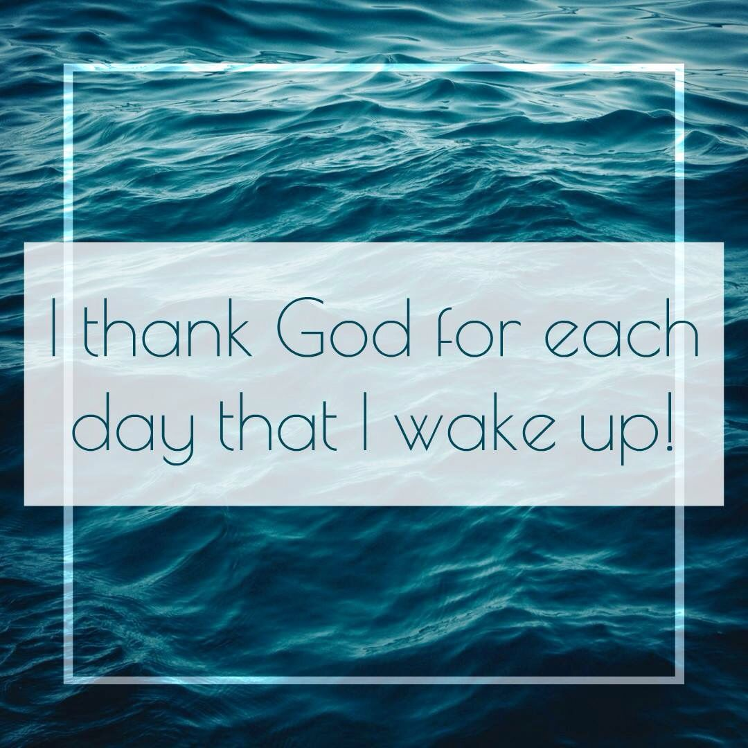 Amen. First blessing of the day.