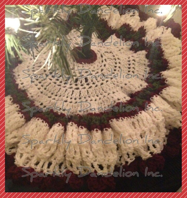 Easy Crochet Christmas Tree Skirt: Christmas Tree Skirt By Sparkly Dandelion Inc.