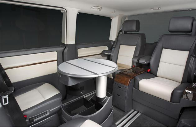 The Interior Of New Volkswagen Caravelle Business A Mobile State Art Conference Room