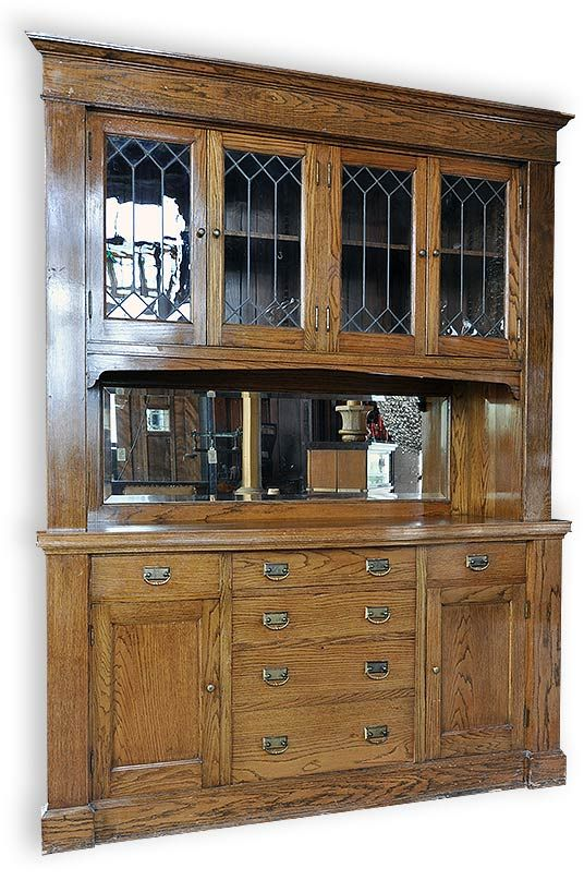 Vintage Built In Dining Room Craftsman Hutch Cottage