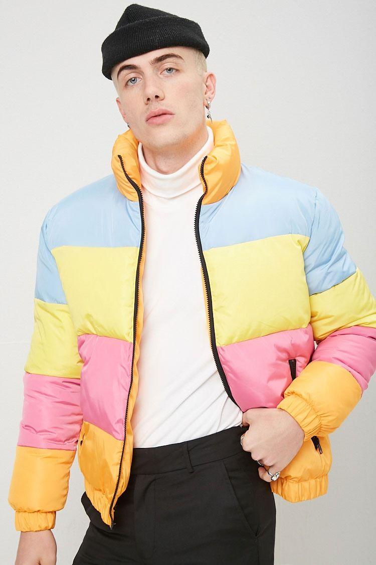 Colorblock Puffer Jacket Forever 21 Mens Puffer Jacket Puffer Jacket Men Sweater Shop [ 1125 x 750 Pixel ]